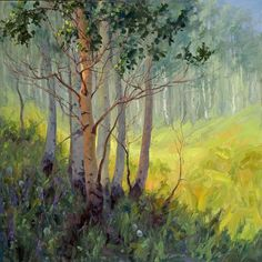aspen tree paintings - Google Search