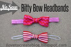 No Sew Bitty Bow Headbands