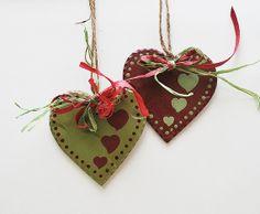 Difficoltà rossoverde in legno cuore ornamento di BrynandJeremiahs, $9.25
