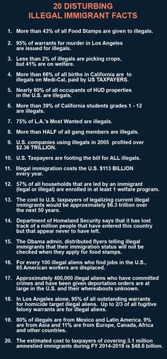 Here's a list of negative effects of bringing in illegal immigrants not only from mexico but from other countries as well.  Immigrants who legally enter the country and work legally tend to help the country more than undocumented illegals.