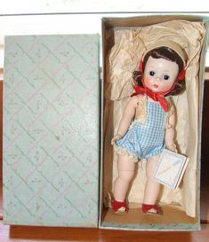 WOW 1950s Madame Alexander Kin Doll Mint in Box w Wrist Tag on ...