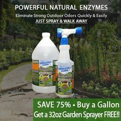 Amazing Outdoor/Yard Deodorizer - Just Spray & Walk Away - Pet Waste & Outdoor Odors - Works on Grass, AstroTurf, Decks, Fences, Dog Runs & More - Prevents Lawn Yellowing - USA Made - Vet Approved Cleaning Dog Pee, Cleaning Hacks, Natural Cleaning Solutions, Astro Turf, Safe Cleaning Products, Dog Runs, Spray Bottle, Deodorant, Lawn