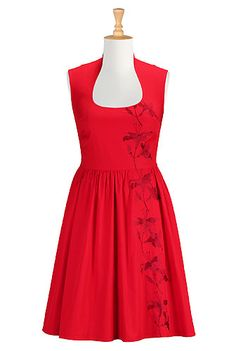 Vintage style dresses for women in retro embellishment and embroidery, sequin dresses, floral dresses, day-to-night dresses, available in 0 - 26W sizes - Big sizes, large and tall, plus sizes, full figured, petites, missy. | eShakti.com