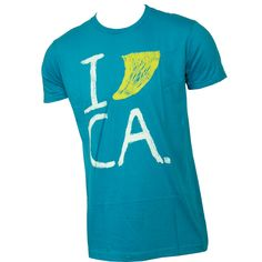 Lost Clothing Mens Shirt I Surf CA Cyan