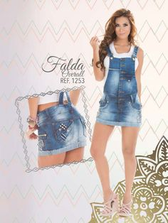 fca16aa96c Cute Outfits With jeans.  pushup.  catalogo.  diseños 2015.  faldas jeans.   faldas overall