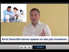 Eerst financiële kennis opdoen en dan pas investeren in vastgoed en aan...