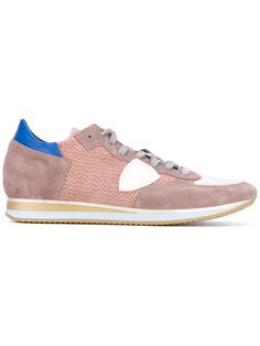 Philippe Model - Tropez sneakers - men - Cotton/Calf Leather/Suede/rubber -  Pink/Purple