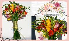 Flowers bouquet @ Civil wedding by Event Deco. Find us on Facebook, Event.Deco.page! Find Us On Facebook, Civil Wedding, Anniversary Parties, Christening, Floral Wedding, Glass Vase, Bouquet, Romantic, Flowers
