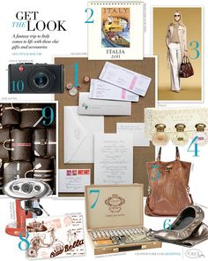 CeciStyle Magazine v20: Get The Look - Jet Set Style - A fantasy trip to Italy comes to life with these chic gifts and accessories.