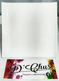 Fuentes del modelo Porcelana Cuadrada Plato Combinado. #dchusregalos #DCHUS #fuentesporcelanacuadradaplatocombinado