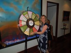The Hospitality Suite is also where we spin the wheel each day and win a prize. Buy this Prize Wheel at http://PrizeWheel.com.