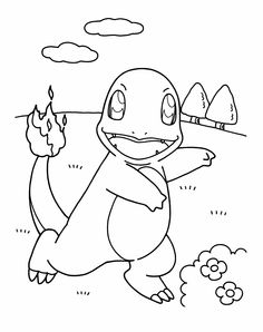 young was playing pokemon coloring page