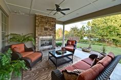 Wicker patio furniture sets for outdoor patio with fireplace