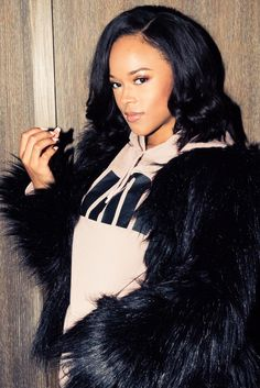 """Empire Actress Serayah Talks Taylor Swift and More: """"My go-to for anything, even if I'm in a sweatsuit going to the airport, is Velvet Teddy from M.A.C.""""   coveteur.com"""