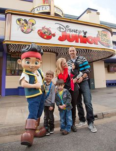 """Melissa Joan Hart and Family Meet Jake at Disney California Adventure Park, As the mother of three young boys, """"Melissa & Joey"""" star, Melissa Joan Hart, knows all about the characters and shows of Disney Junior - especially """"Jake and the Never Land Pirates."""","""