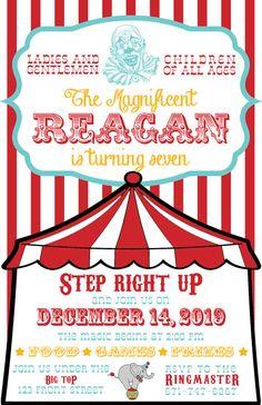 Circus or Carnival Birthday Invitation - PRINTABLE!