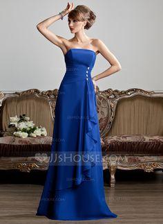 Evening Dresses - $119.99 - A-Line/Princess Strapless Floor-Length Chiffon Evening Dress With Beading Cascading Ruffles (017013808) http://jjshouse.com/A-Line-Princess-Strapless-Floor-Length-Chiffon-Evening-Dress-With-Beading-Cascading-Ruffles-017013808-g13808
