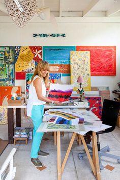 Atelier de Priky Zuccolo foto Julia Ribeiro para Open House de Casa de Valentina, Brasil