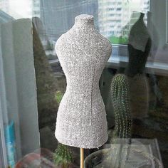 Mini Mannequin torso Cotton fabric Pin cushion by MyWealth on Etsy