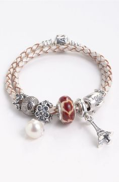 >>>Pandora Jewelry OFF! >>>Visit>> PANDORA Customizable Charm Bracelet available at Fashion trends Fashion designers Casual Outfits Street Styles Pandora Beads, Pandora Bracelet Charms, Pandora Jewelry, Charm Jewelry, Diy Jewelry, Pandora Leather, Bracelet Designs, Fashion Jewelry, Bling