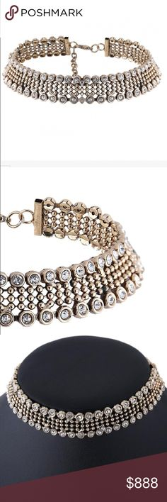 JUST IN 💋 RHINESTONE CHOKER Gold and rhinestone choker. Great statement piece.  PRICE FIRM UNLESS BUNDLED. BUNDLES OF 3 GET 30% OFF Jewelry Necklaces