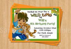 Go Diego Go Birthday Party Personalized by my3sweetcheeks on Etsy