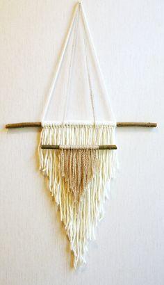 Yarn hanging, woven wall weaving bohemian wall hanging, wall weaving, hanging wall decor, weaving wall hanging, yarn art