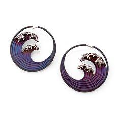 Hokusai earrings by Garaude of Paris