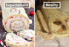 Expectations Vs Reality: 100 failed attempt to make a cake – Funnyfoto Bad Cakes, Food Fails, Expectation Reality, Funny Cake, How To Make Cake, Funny Pictures, Funny Stuff, Fanny Pics, Funny Things