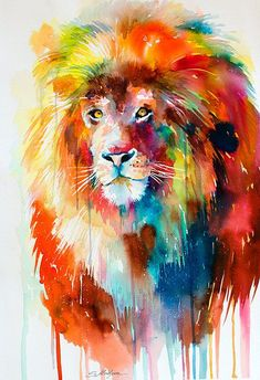 Hey, I found this really awesome Etsy listing at http://www.etsy.com/listing/179157864/original-watercolour-painting-lion