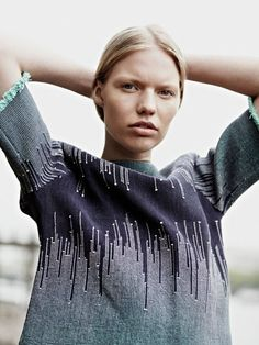 From the Graduate Collection - Jessica Leclere textile and knitwear design London/Paris.