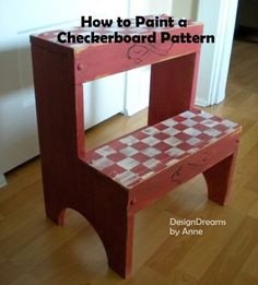 How to paint a checkerboard Pattern via DesignDreams by Anne: 15 DIYs $20 and Under