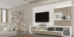 Sala sob medida neutra Living Hall, House, Living Room, Tv Wall Unit, Home, Family Room, Wall Unit, Tv Room, Room