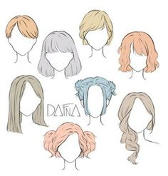 Hairstyles / hairstyle collection / hair drawing / girls hairstyles / hairstyle composition collection / pretty hairstyles / unusual hairstyles / pigtails / back drawing / hairstyle materials hair drawing – Hair Models-Hair Styles Back Drawing, Drawing Poses, Drawing Tips, Drawing Drawing, Drawing Ideas, Art Inspiration Drawing, Gesture Drawing, Drawing Skills, Girl Hair Drawing