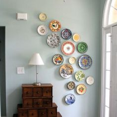 From Tilly's Cottage... Love hanging plates on the wall!