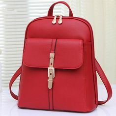 2015 new fashion Multi-function backpack Korean style rucksack women PU leather shoulder bag backpacks for teenage girls A1333
