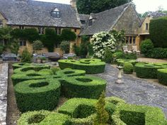 Knot Garden at The Orchard Farm designed by Rosemary Verey