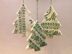 Handmade Ceramic Christmas Tree Decoration on Etsy, $5.66