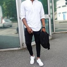Black & White Outfit For Men Street Style Inspiration #MensFashionClassy