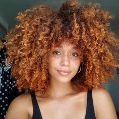 Dyed Curly Hair, Dyed Natural Hair, Curly Hair Styles, Pelo Afro, Natural Hair Styles For Black Women, Ginger Hair, Afro Hairstyles, Hair Hacks, Healthy Hair