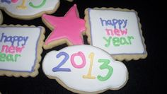 Make Do: colorful New Year's Eve Cookies