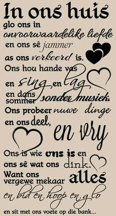 Wall decal - in ons Quotes To Live By, Love Quotes, Inspirational Quotes, Strong Quotes, Motivational, Afrikaanse Quotes, Sweet Words, Wall Quotes, Vinyl Decals