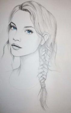 art-artwork-blue-eyes-braids-Favim.com-2302447.jpg (388×614)