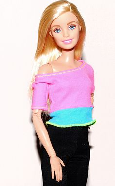 Dolls Barbie Made To Move Doll Pink Top