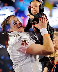 Drew Brees and Baby Brees