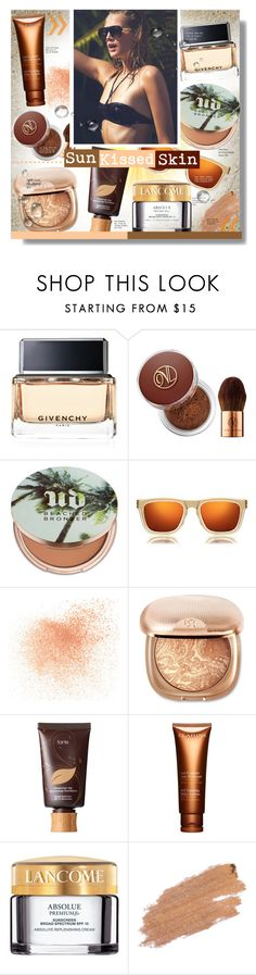 """""""x Sun Kissed Skin x"""" by chocolate-addicted-angel ❤ liked on Polyvore featuring beauty, Givenchy, Vita Liberata, Urban Decay, Karen Walker, Eve Lom, tarte, Clarins, Lancôme and Jane Iredale"""