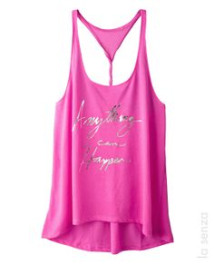 The perfect tank for a hot laid back style! With flirty graphics and a twisted racerback, it's perfect to wear out on to town or on your couch! The Beauty Department, Makes You Beautiful, Laid Back Style, Fancy Hairstyles, Virtual Closet, Tank Tops, Clothing Ideas, 3, Sexy