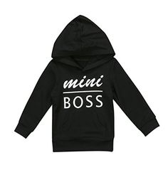 f6d94e6bef2 SALE PRICE -  4.98 - Urkutoba 0-5T Baby Boy Girl Mini Boss Hoodie Tops