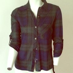 Plaid blue and green button up Very soft and stretchy brand new with tags! It feels like pajamas! Has a back flap over the bum, popular new style! Greta with leggins and combat boots! Tops Button Down Shirts Green Button, Button Up, Button Down Shirt, Estilo Popular, Sexy Pajamas, Rocker Style, Fashion Outfits, Fashion Tips, Fashion Trends