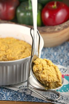 Pin it to your Dinner Board - Healthy Sweet Potato Spoonbread - Low Calorie, Low Fat, Vegetarian Side Dish